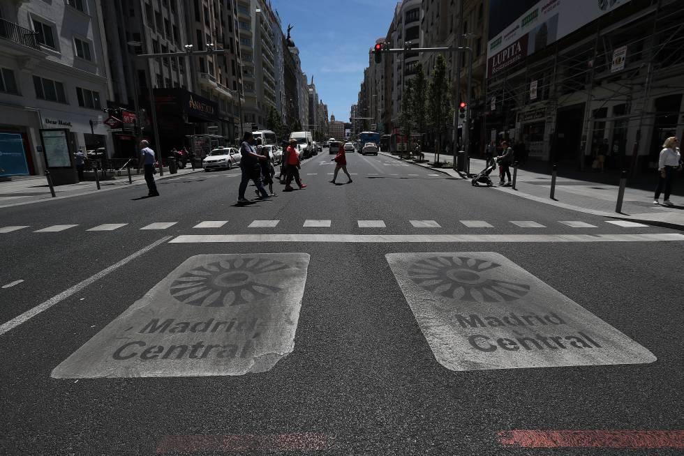 La manifestación en favor de Madrid Central, en directo