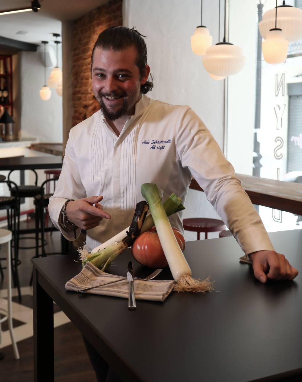 Aldo Sebastianelli, chef del recientemente inaugurado restaurante SanYsidro en el barrio de Chueca.