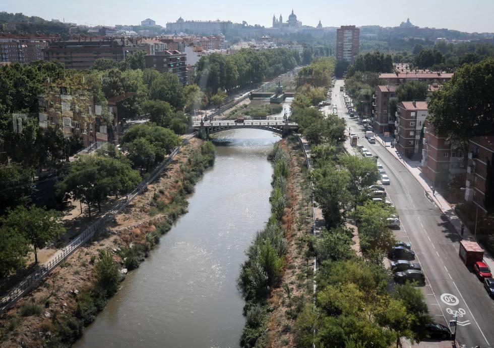 El río Manzanares renaturalizado.