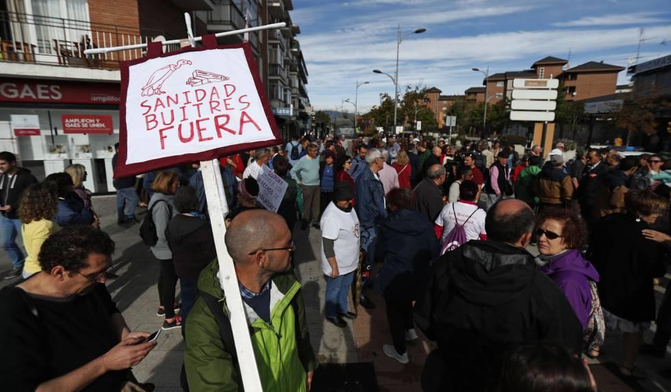 Concentración de trabajadores del Hospital de Villalba.