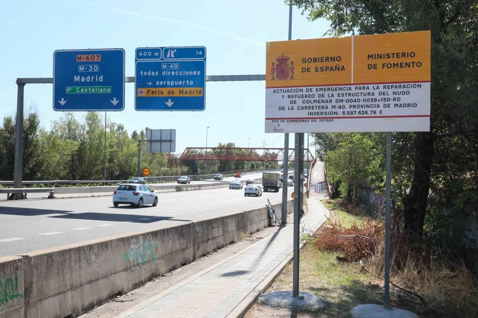 Fomento descarta reabrir el puente de la carretera de Colmenar ...