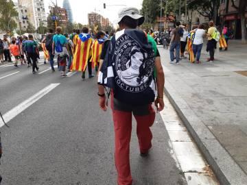 Àlex Sànchez, en un momento de la marcha.