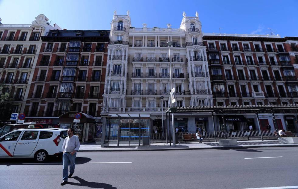 El edificio de Fuencarral 112, uno de los 14 inmuebles que eran propiedad de Fusara.