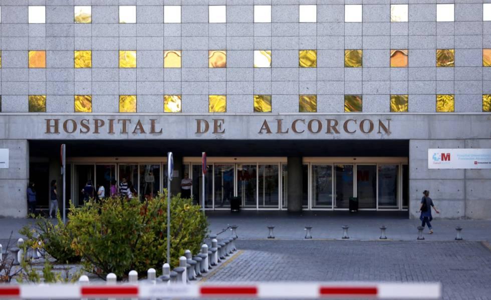 Entrada del Hospital Universitario Fundación de Alcorcón.