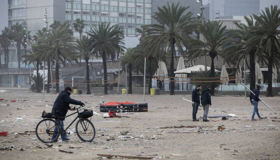 Barcelona valora en 23,6 millones de euros los daños del temporal Gloria