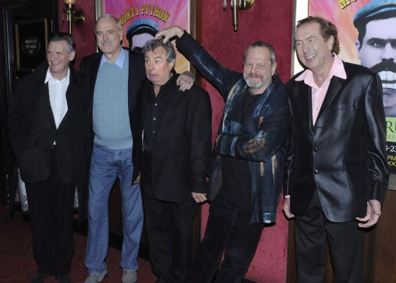 Los Monty Python en 2009, en el estreno en Nueva York del documental  'Monty Python: Almost the Truth (The Lawyer's Cut)'