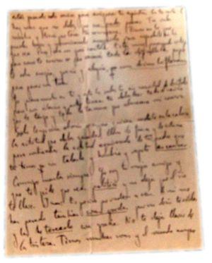 Fragmentos de la carta de Federico García Lorca.