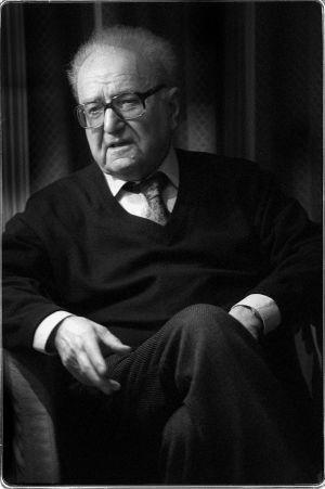 El filósofo francés Roger Garaudy, en 1998.