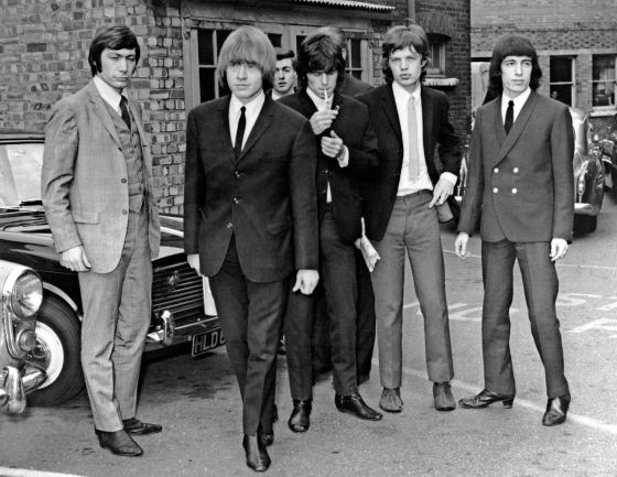1965: Watts, Brian Jones, Richards, Jagger y Bill Wyman.