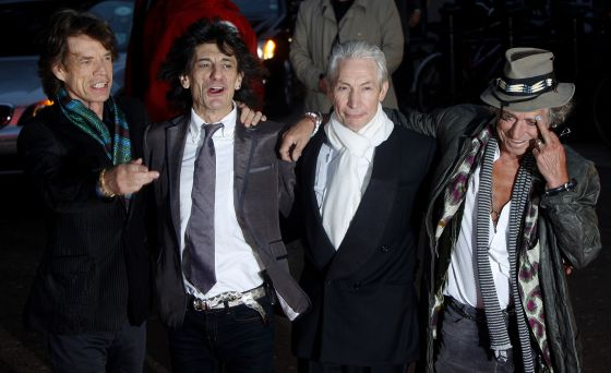 2008: Jagger, Ron Wood, Watts y Richards.
