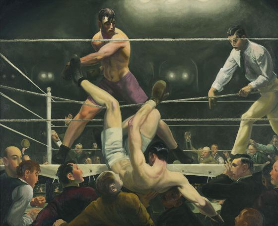 'Dempsey and Firpo' (1924), de George Bellows.
