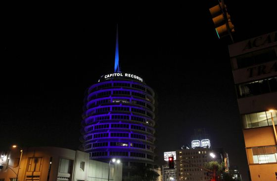 La sede de la discográfica Capitol Records en Hollywood.