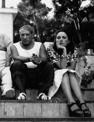 Pablo Picasso y Dora Maar, fotografiados por Man Ray.