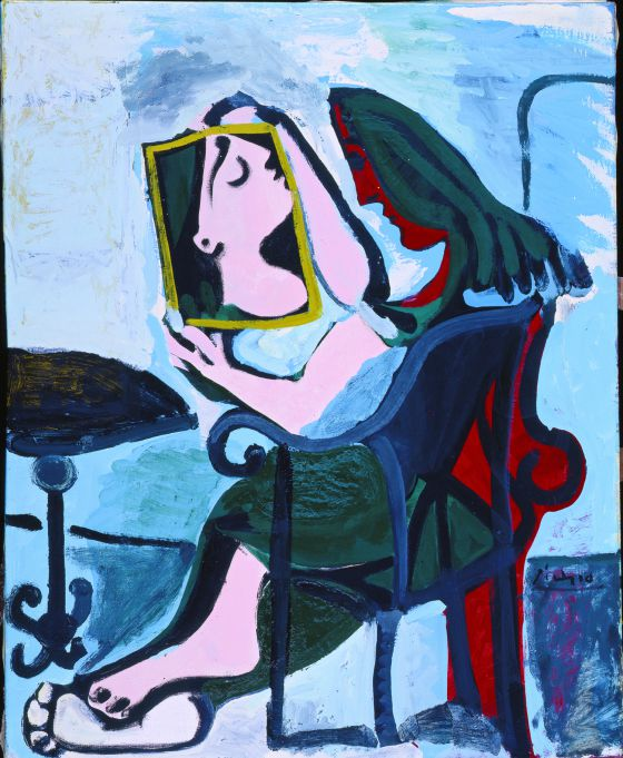 'Mujer con espejo' de Pablo Picasso.
