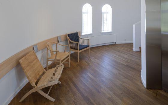 La exposición dedicada a Hans J. Wegner en Tønder, Dinamarca.