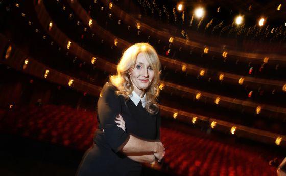 La escritora J. K. Rowling, creadora de la saga de Harry Potter.