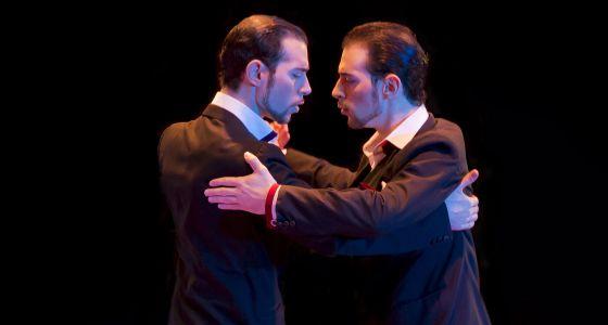 Los hermanos Nicolás y Germán Filipeli, durante una interpretación en el Mundial de Tango en Buenos Aires.