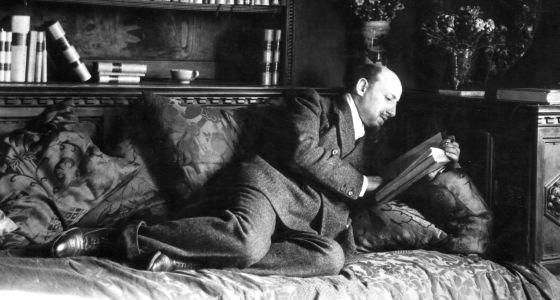 El escritor italiano Gabriele D'Annunzio.