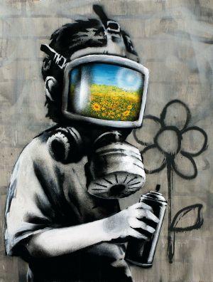 Resultado de imagen de Banksy sobre cámaras y acontecimientos