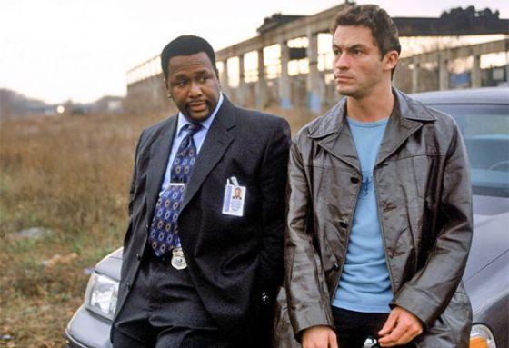 Wendell Pierce y Dominic West, en 'The Wire'.
