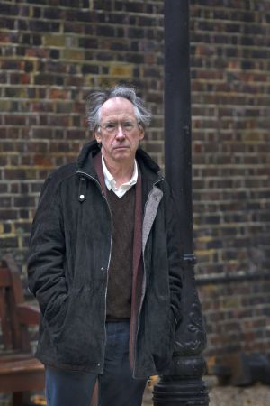 Ian McEwan next to his home in Gray's Inn, the setting of his most recent novel.