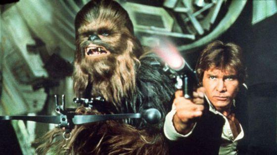 Ford y Chewbacca, en 'La guerra de las galaxias'.