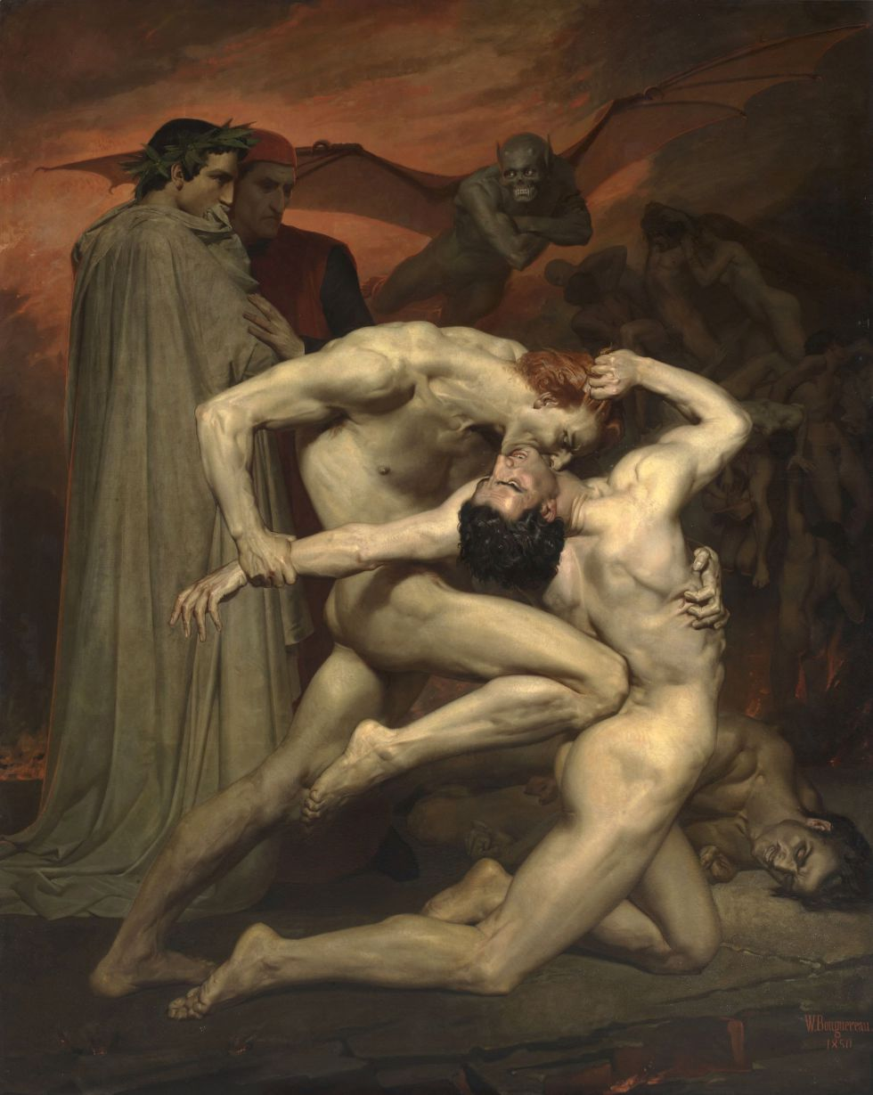 Dante y Virgilio en el infierno, del pintor William-Adolphe Bouguereau.