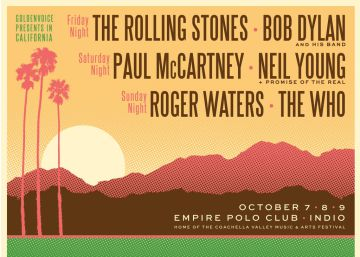 'Desert Trip': Stones, McCartney, Neil Young, Dylan, Waters e The Who, juntos no palco