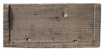 Una de las tablillas de maderas halladas.