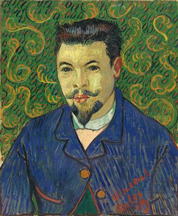 Retrato del doctor Félix Rey, de Van Gogh, que se exhibe en Ámsterdam.