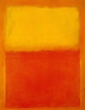'Naranja y amarillo', de 1956.