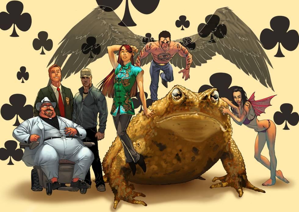 Algunos personajes de la antología de 'Wild Cards'.