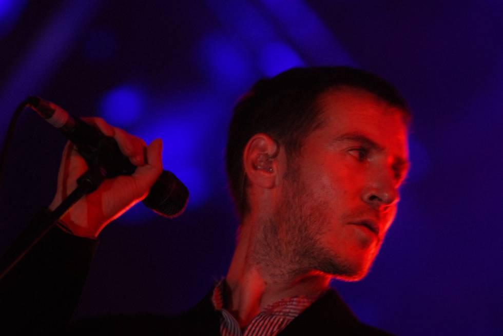 Robert del Naja, en un concierto en Barcelona.