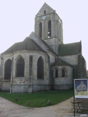 La iglesia de Auvers-sur-Oise.