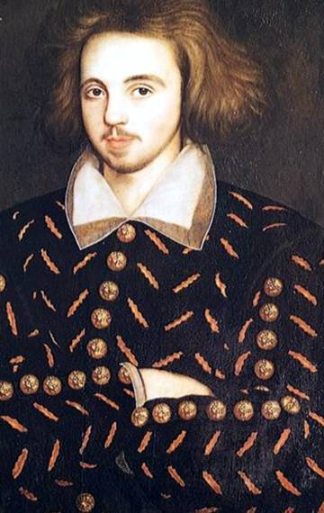 Retrato de Christopher Marlowe.