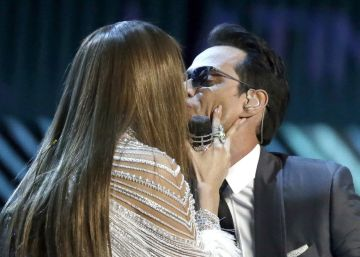 Marc Anthony y Jennifer López, juntos en los Grammy Latinos