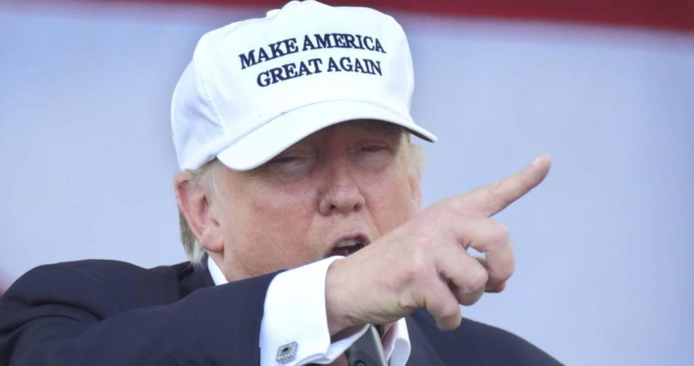 Donald Trump en un mitin de campaña.