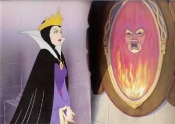 La Malvada Reina de Blancanieves ante el espejo.