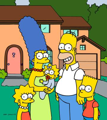 La familia Simpson.
