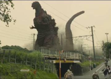 Shin Godzilla Gabinete De Crisis Con Monstruo Al Fondo