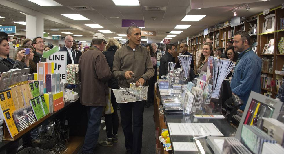 Barack Obama, en la librería independiente de Washington Politics and Prose, en 2014.rn