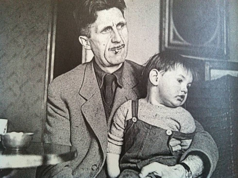George Orwell and his son Richard in 1946.