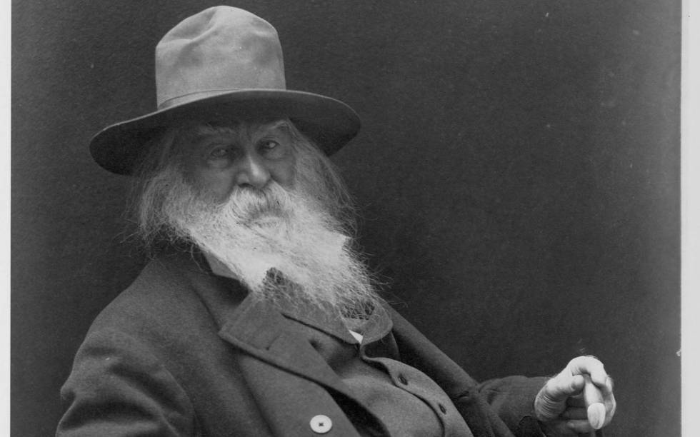 Un retrato del escritor norteamericano Walt Whitman (1819-1892).