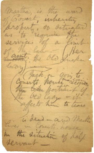 Notas manuscritas del autor del poema 'Oh capitán, mi capitán' Walt Whitman.