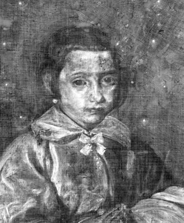 Radiografía de 'Retrato de niña' o 'Inmaculada joven', atribuido a Velázquez.