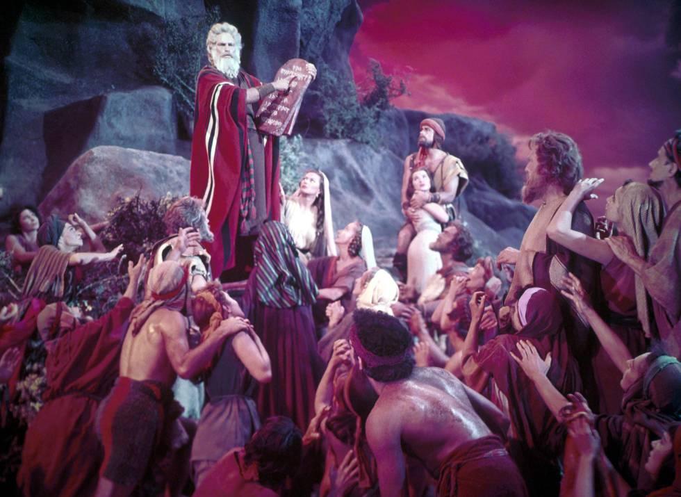 Fotograma de 'Los diez mandamientos', de Cecil B. DeMille (1956)