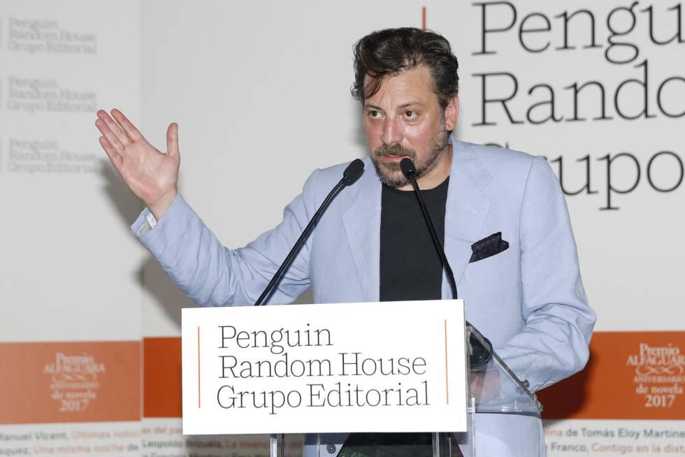 El escritor Ray Loriga, en la entrega del Premio Alfaguara el pasado mayo.