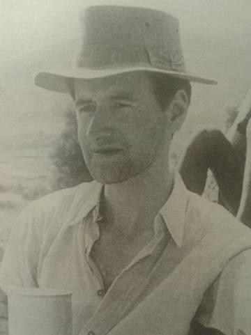 Morris, durante la expedición al Everest.