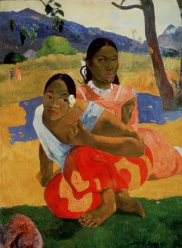 '¿Cuándo te casas?', pintado en 1892 por Paul Gauguin.