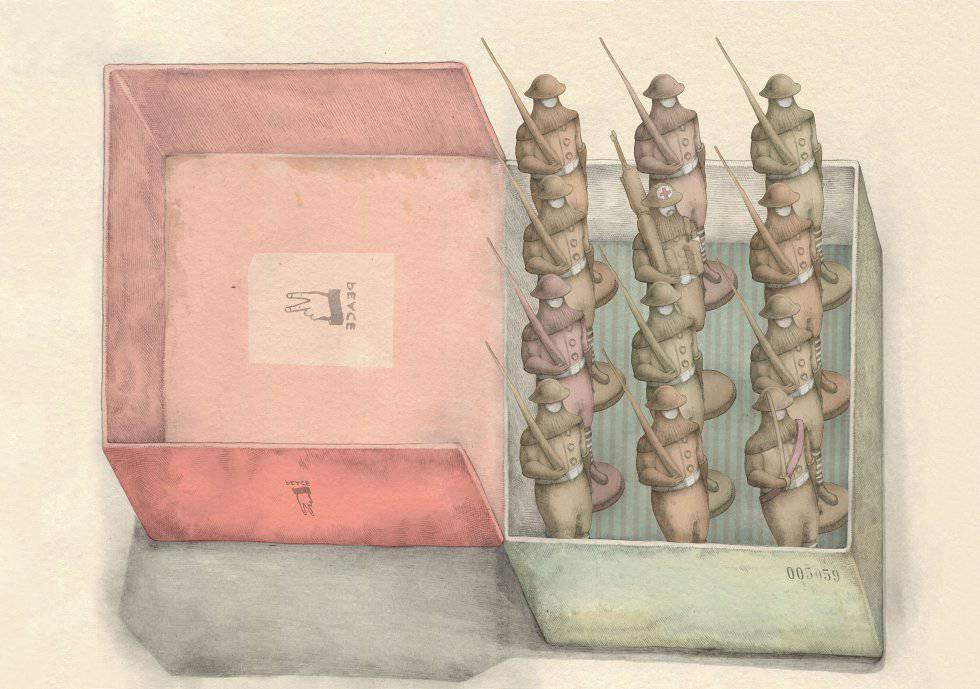 Dibujo del ilustrador Page Tsou para el libro 'El soldado de plomo'.